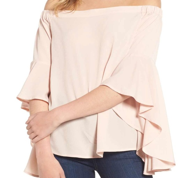 51d3e1b2c48a67 Chelsea28 Tops | Bell Sleeve Off The Shoulder Top From Nordstrom ...